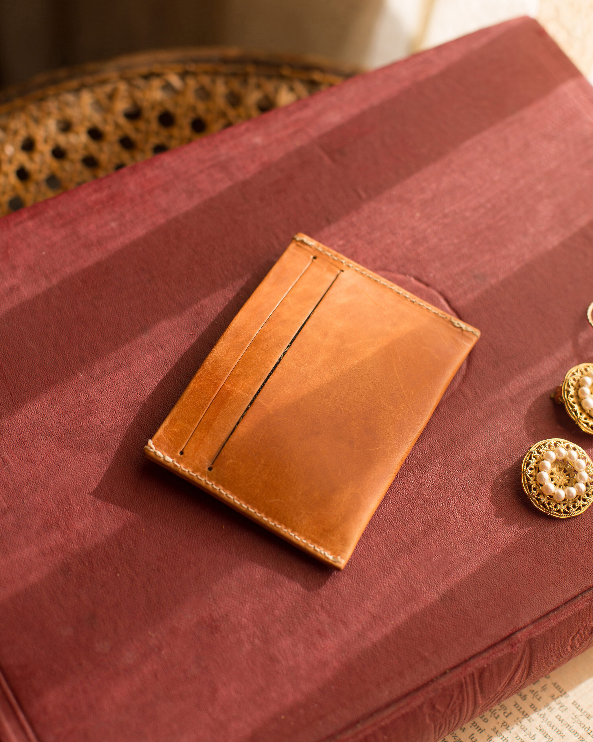 Leather Cardholder Natural